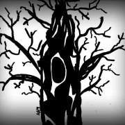 Träd i svart anda
