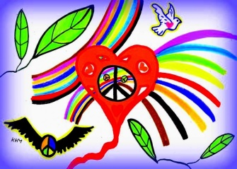 Peace and love -