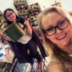 Sista dagen på mässan kan ni möta Linn och My. Vi är lyckliga att ha så duktiga och trevliga tjejer som hjälper till!