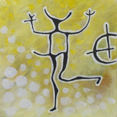 SÅLD! Den dansande krigaren & solsymbol. 2013