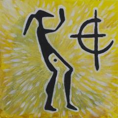 Kvinna & solsymbol. 2013