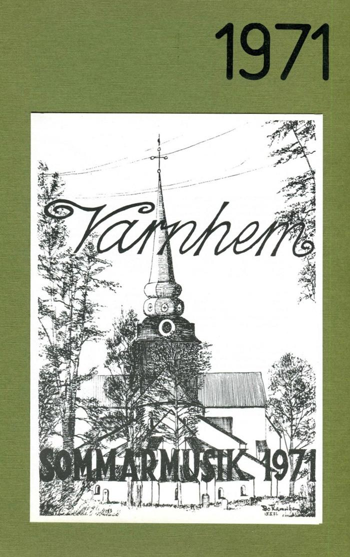Vinjett tecknad av Bo Ramviken med kyrkan i olika perspektiv år för år. Klicka på bilden om du vill se den mindre!