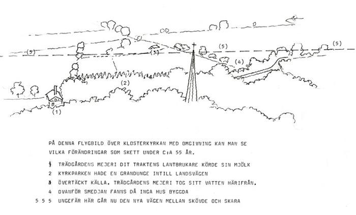 B. 5 Beskrivning över förändringar till 1990. Ritning Nils Lann. Insatt av Kent Friman, 2014-02-25.