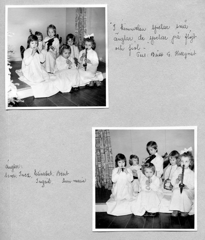 Sid 28. Förnamnen går att utläsa på kartongarket och barnen finns med efternamn och boplats vid bilderna ovan. Inskrivet av Kent Friman, 2014-05-27.