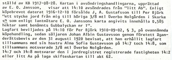 Ur dokument tillhandahållet av Lars-Göran Pettersson, Trollehöjd (Nohltorp), Ljungstorp 2014