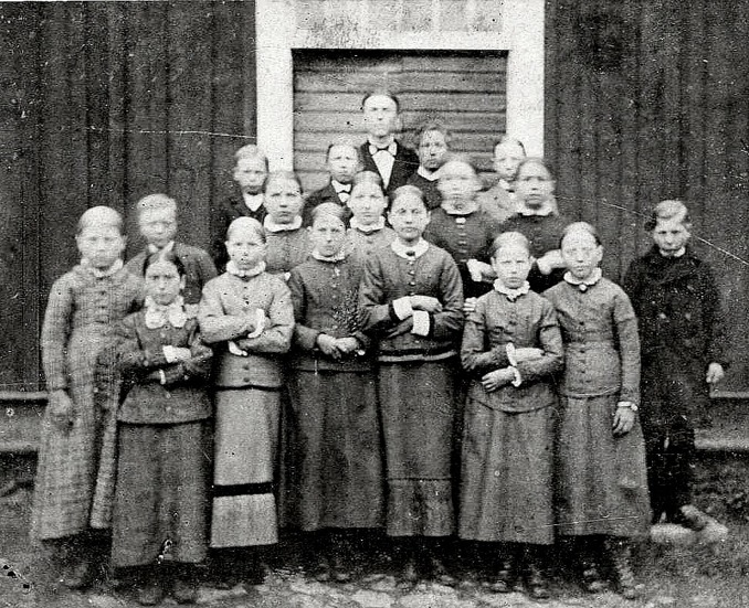 Bild från Förbergs samling via Astrid Blomqvist, Tomten, 2015 - möjligen är bilden tagen 1857 och av lektorn i Skara G V Hofling