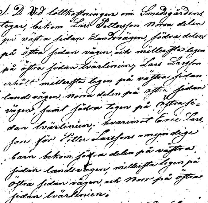 Lantmäteriförrättning 1826 - handling från Lantmäteriet Historiska Kartor