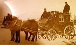Diligens 1880-tal - en dyrare skjutsform än skjut-stationerna med lånad häst & vagn