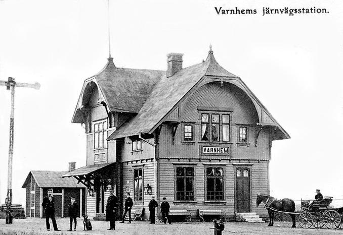 Foto av vykort - finns i Skarke-Varnhems Hembygdsförenings arkiv