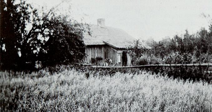 Granbacken innan rivning. (Bild ur Billingen längesen, 1, 1989, Verna Andersson, Arne Andersson och Alf Brage)