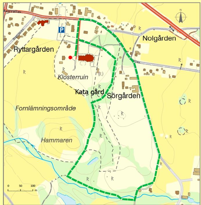 Kartan bearbetad av Margareta Dahli, Varnhem..