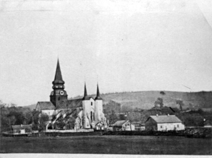 Foto Ryttaregården med Kyrkogatans hus - foto Verner Hilder 1878!