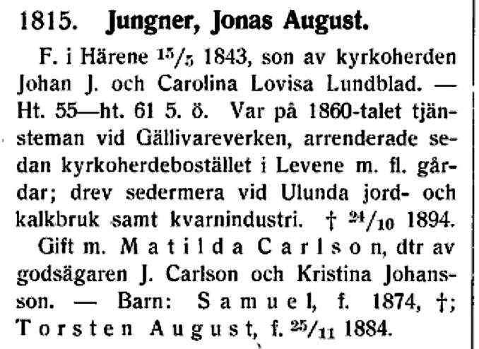 J A Jungner