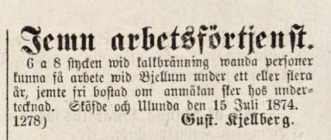 Kjellberg Lidköpings tidning 1878-08-15 Bjellum