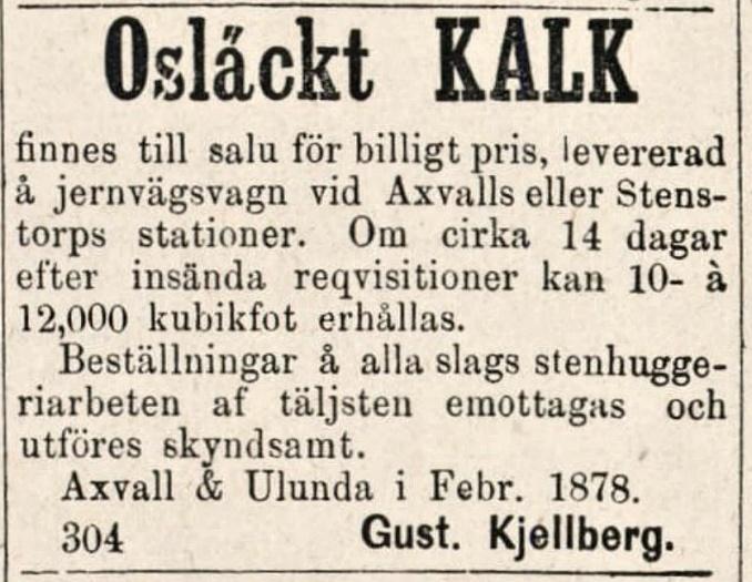 Kejllberg Lidköpings tidning 1878-03-06