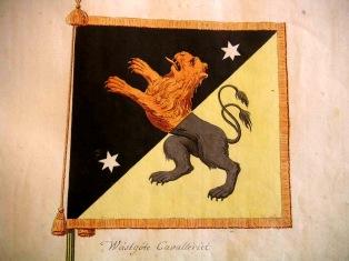Wästgöta Cavallerie's vapenflagga. (Allmänt spridd bild)
