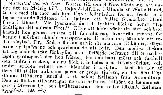 Post o inrikes 1845