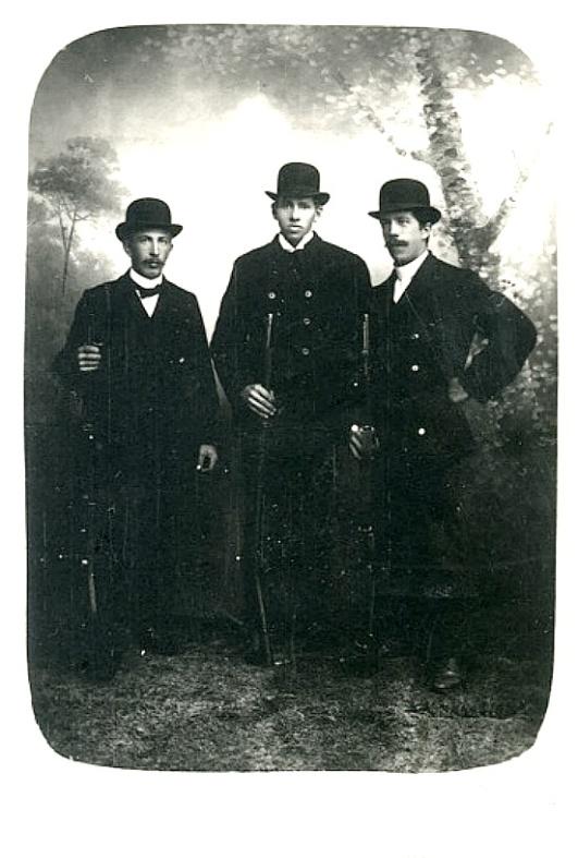 Karl Johansson 1925 längst till höger