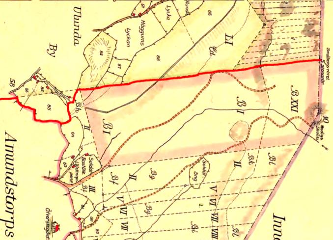 Ulunda 1794 öster  - klicka på kartan för att se den större! Vänd så att norr är uppåt något så när ... inte riktigt!