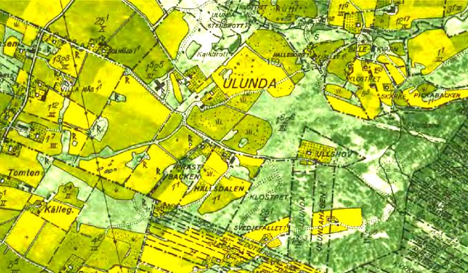 1960 års karta - klicka på kartan för att se den större!
