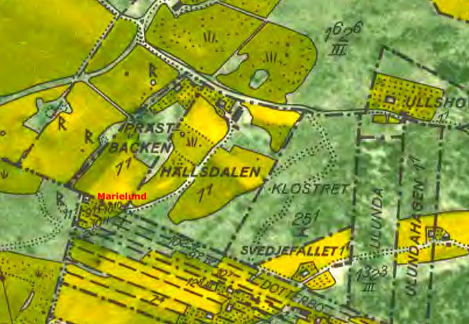 Marielund 1960 - klicka på kartan för att se den större!