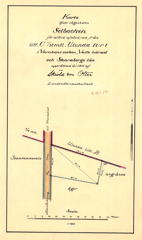 Solbacken avstyckning 1915