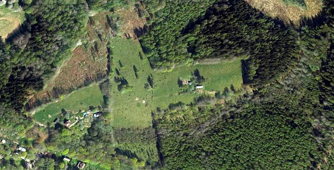 Flygbild över Svedjefallen 1 + 2
