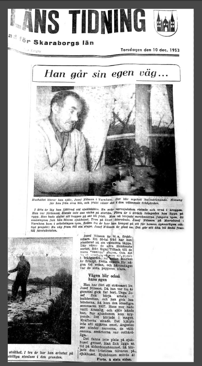 Josef i tidningen