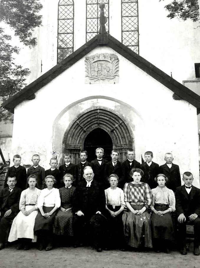 Enoc konfirmation 1910  - bild från systerdottern Anna-Karin Karlsson, 2019-09-25