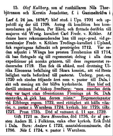 Project Runeberg -  Skara stifts herdaminne /393 (1871) Author: Johan Wilhelm Warholm (http://runeberg.org/skarahe1/0399.html)