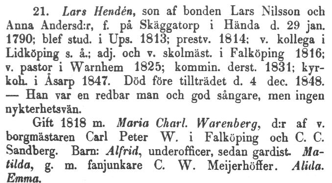 Lars Henden Warholm - Skara stifts Herdaminne