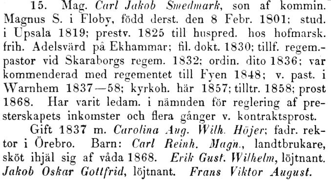 Smedmark Warholm - Skara stifts Herdaminne