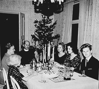 Bjurklo - julafton i Prästgården -Foto från Margita Bjurklos album, 2020