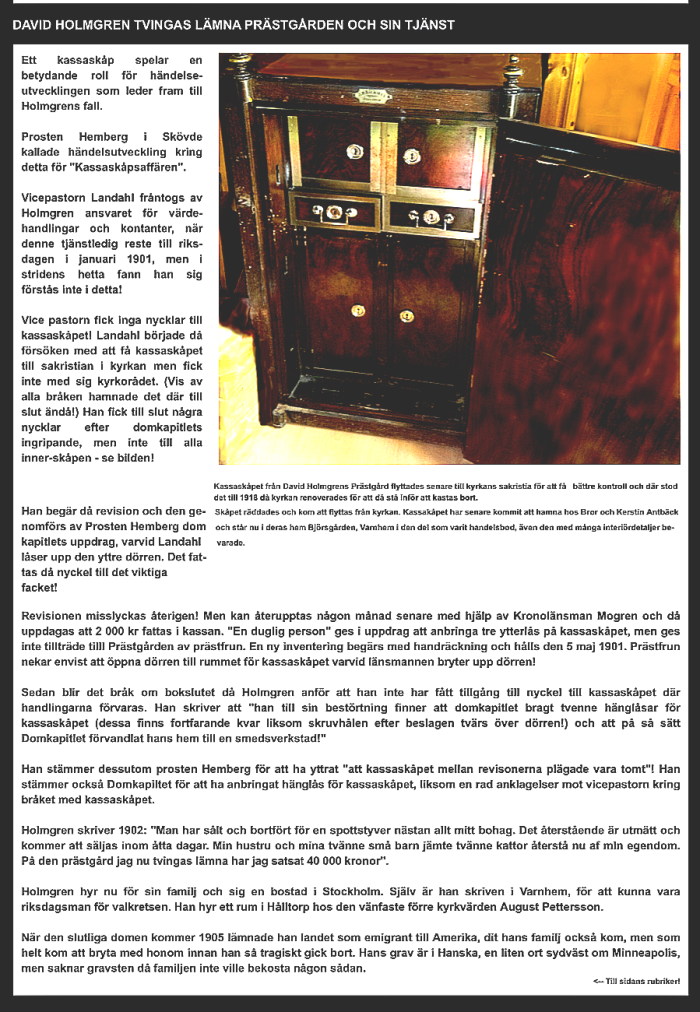 Artikel av Kent Friman byggd på Birgitta Rydbergs bok - från www.saj-banan.se - Klicka på texten blir den  lättare att läsa!