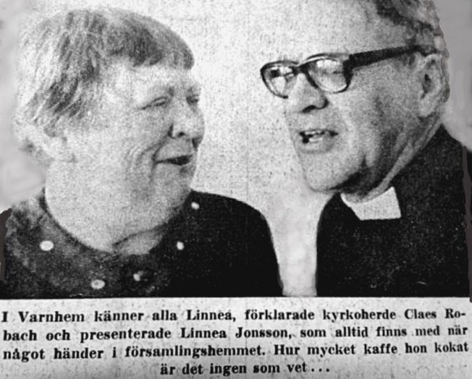 Robach o Linnea 1977 - urklipp från Kerstin Lidberg, 2020