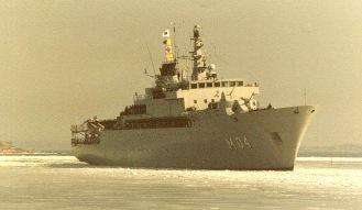 HMS Carlskrona - bild från Anita Hammars album, 2020