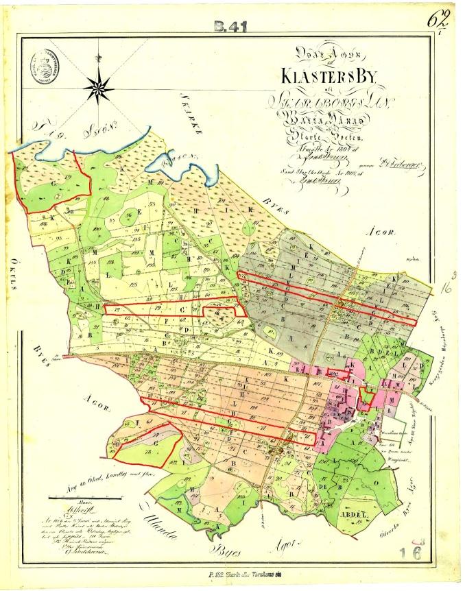 Klåsters by 1804 hela kartan