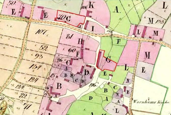 Fogdegårdens husplaceringar 1804