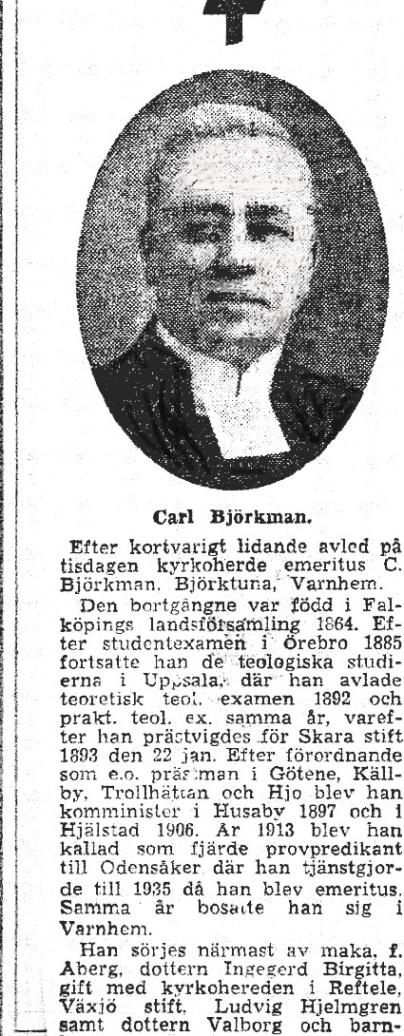 Kyrkoherde Björkman