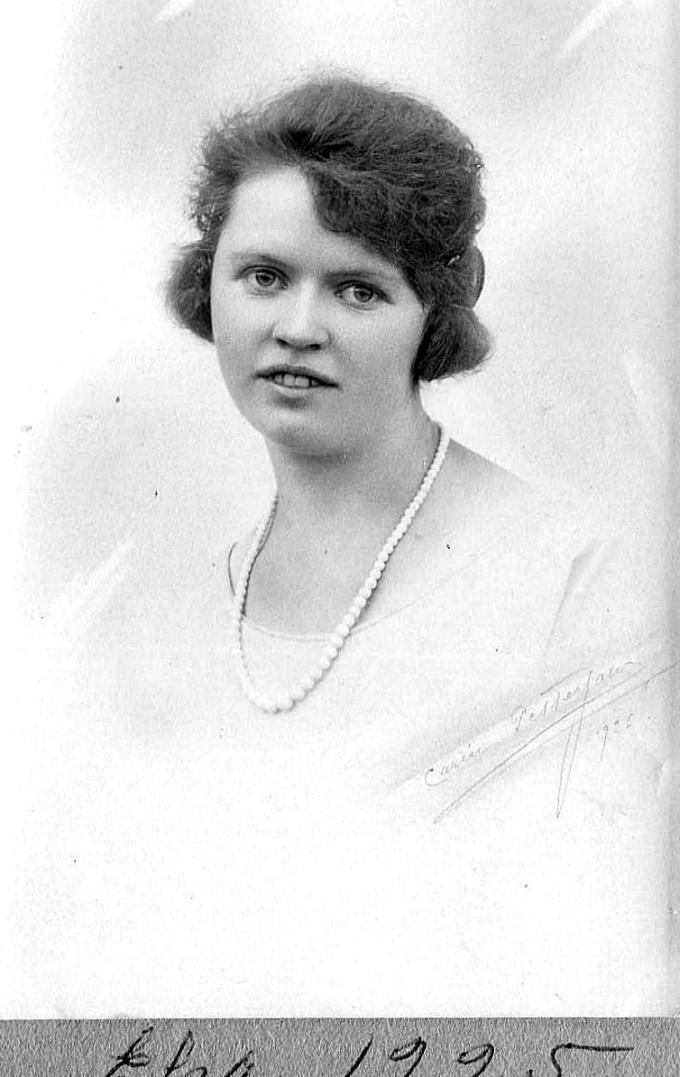 Elsa Jonsson foto 1925 - Foto från Anders Främst samling 2016