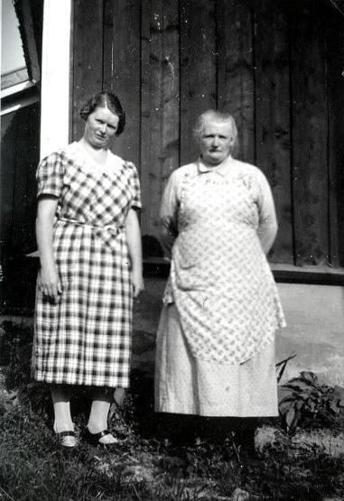 Elsas mor o Elsa - foto från Anders Främst samling, 2016