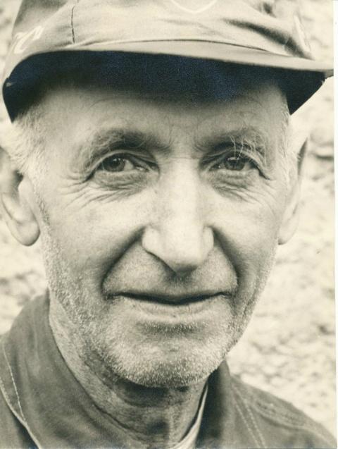 David Jonsson på Blomberg på lite äldre da'r - foto från Christer Jonssons samling, 2016