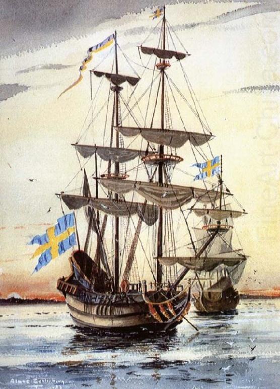 Kalmar Nyckel och Charitas startar från Göteborg 1641