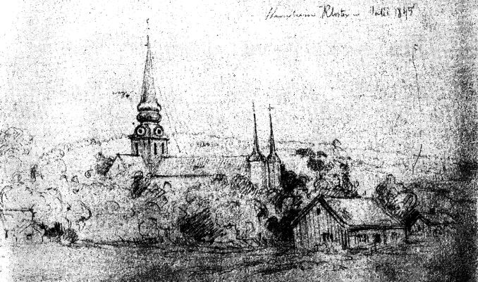 Teckning Fritz von Dardel juli 1845