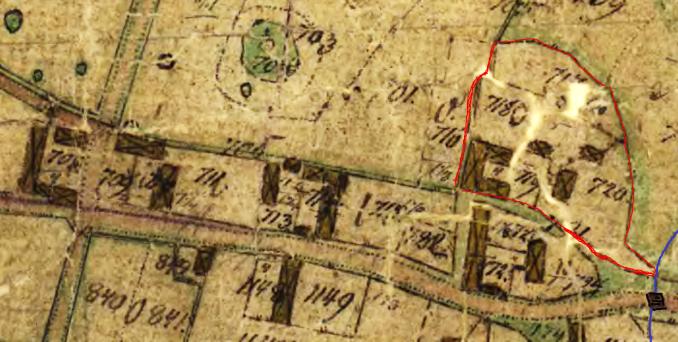 Karta Lantmäteriet historiska kartor  - grundad på 1804 års karta (1844)