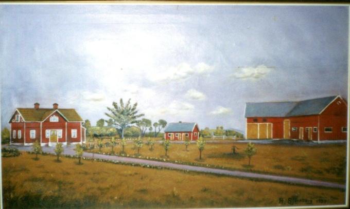 Tavla målad 1933 H. Björnberg - foto från Stridh