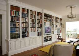 Lidhults platsbyggd bokhylla