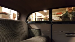 Baksäte i en gammal Opel