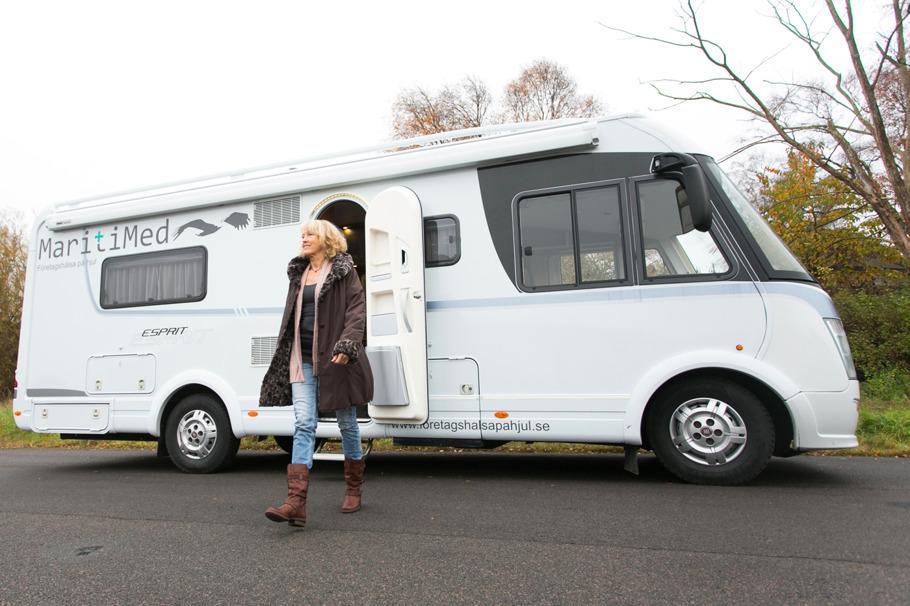 Mobil företagshälsovård på hjul i Halland och Västra Götaland med MaritiMed