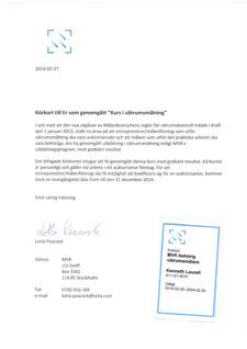 MVK-behörighet för våtrumsmålning.